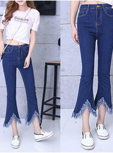 Flare Capris Jeans Ankle Length Skinny Pants