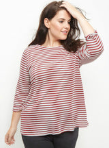 Striped Streetwear Basic Tops Loose O-Neck T-shirt