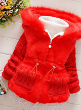 Baby Girls Winter Autumn Cotton Warm Cotton Jacket Coat