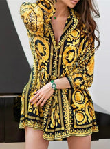 Spring Loose Long Sleeve Party A-Line Dress