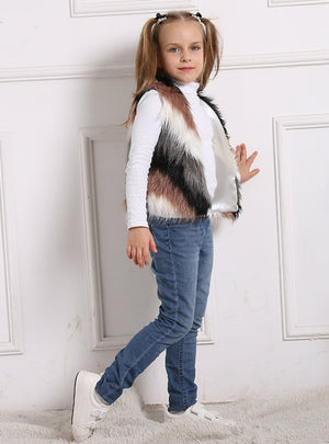 Children's Clothing Fur Coat Fall Winter Vest