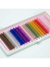 8 Colors Rainbow Colored Eyelash Extension Faux Mink