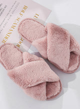 Winter Women House Slippers Faux Fur