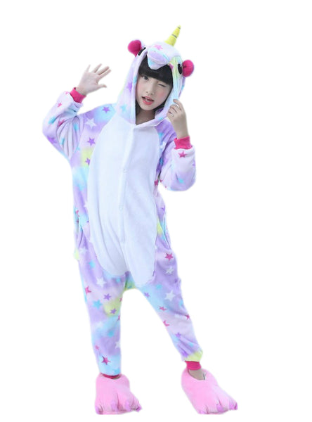 Kids Animal Stars Unicorn Pajamas For Boys Girls