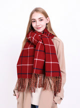 Cashmere Like Plaid Warm Scarf For Women