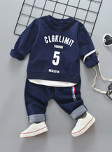 2Pcs Child Suit Kid Boys Sports Set Clothing