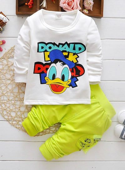 Boys 3Pcs Suits Cartoon Donald Duck Baby Kids Sets