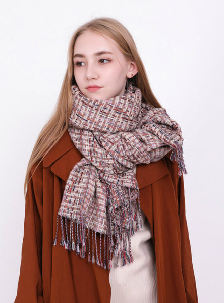 Cashmere Like Warm Shawl Dual-Purpose Scarf