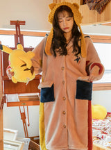 Women's Pajamas Thick Coral Fleece Robe Long