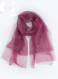 Brand Solid Wrinkle Scarf Women Shawl Long