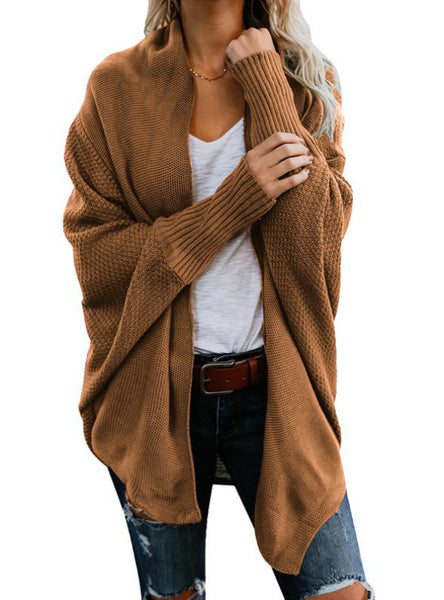 Winter Batwing Sleeve Knitwear Cardigan