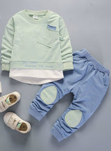 Long Sleeve T-shirt Pants 2pcs Suits Kids Clothing Sets