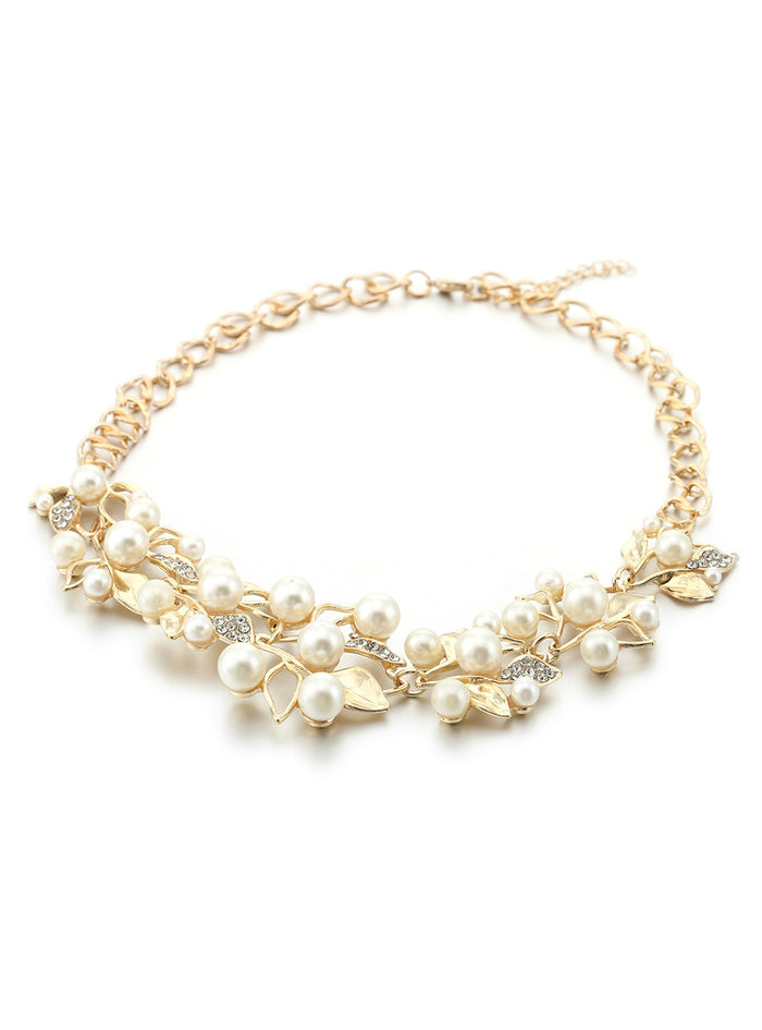 Match-Right Pearl Necklaces & Pendants Leaves