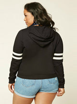 Basic Contrast Tops Long Sleeve Big Size Hoodies