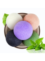 6 Colors Natural Konjac Konnyaku Facial Puff Face