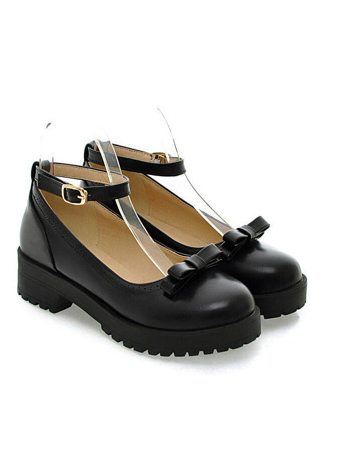 Bow Lolita Women's Shoes Shallow Mouth