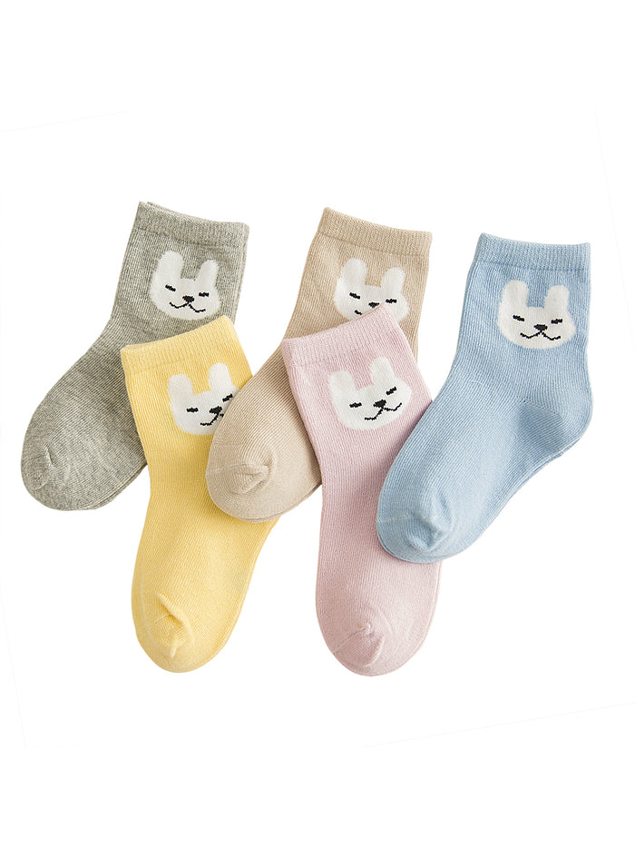 5 Pair/lot New Soft Cotton Pattern Kids Socks