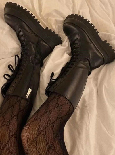 Women Lace up Zipper Boots Short Boot
