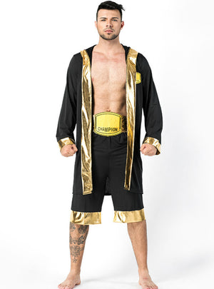 Black Male Champion Cosplay Costume