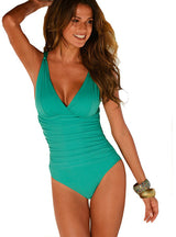 One Piece Swimsuit Swimwear Women Swimwear Solid
