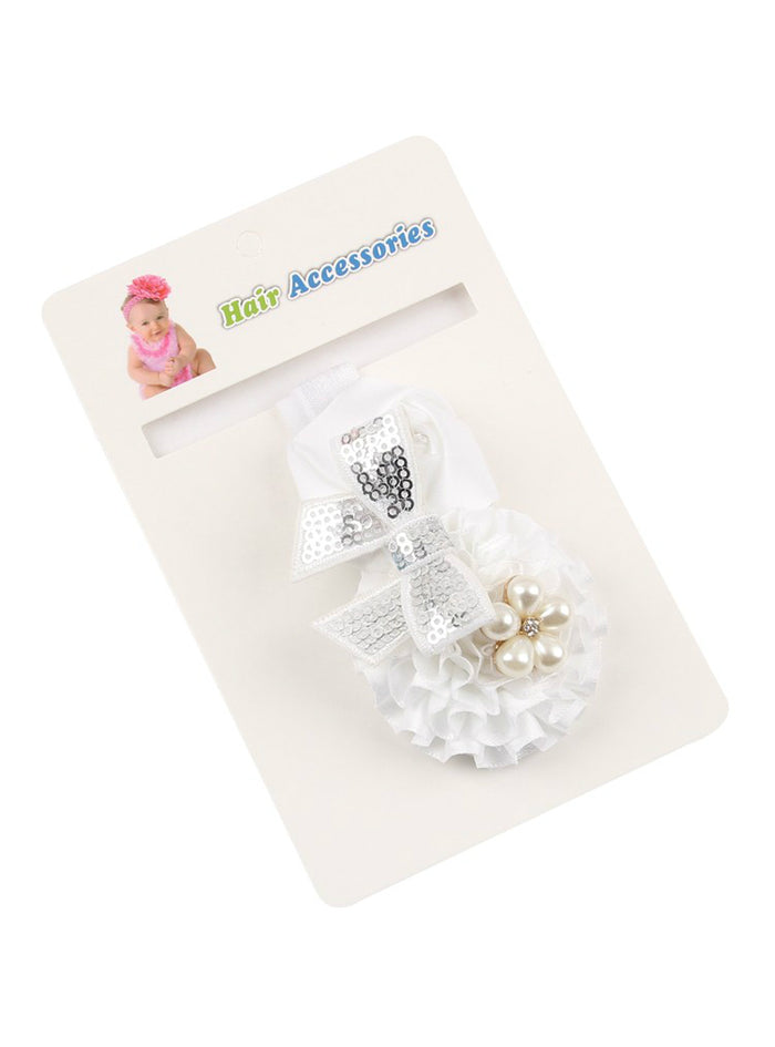 Baby Girls Flower Headband Rose Pearl Hair Accessories