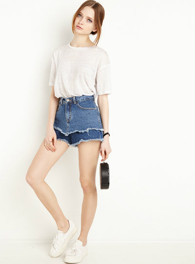 Street Fashion Denim Joker Slim Shorts