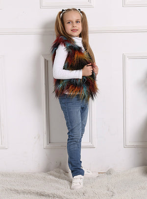 Winter Children's Vest Soft Short Fur