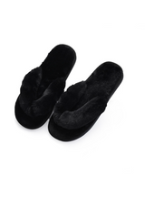 Women House Slippers Faux Fur Fashion Warm Shoes
