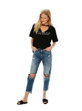 Short Sleeve Female Letter Print Pullover Tops