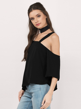 One Shoulder Female Tees Casual Loose T-shirt