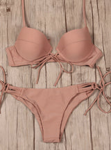 Push Up Swimwear Bandage Cut Out Bikini