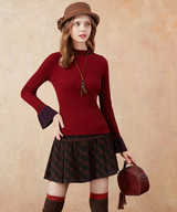 Autumn&Winter Casual All-match Black Plaid Skirt