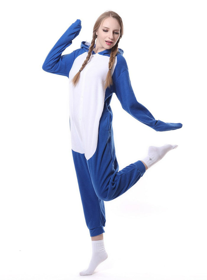 1031f89271 Women Flannel Blue Shark Onesie Pajama Animal – Lilacoo
