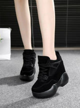 High Platform Shoes Height increasing Leather Shoes