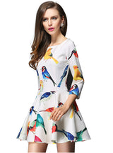Mini Dress Half Sleeve O-neck Casual Dress