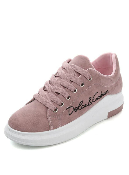 Pink Platform Sneakers Women Vulcanize Shoes