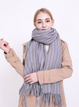Plaid Scarf Women's Neck Thickened Shawl