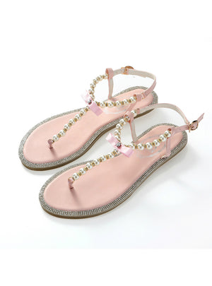 Diamond Pearl Women Sandals Flat Sandals