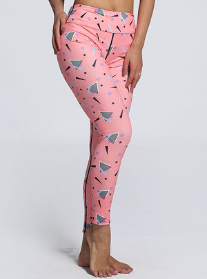 Print Pink Leggings Women Casual Sporting Legging