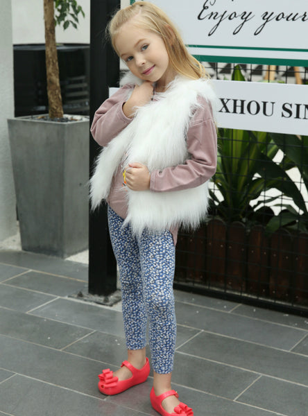 Faux Fur Vest Artificial Fur Vest Children's Clothing