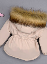 Baby Girl Denim Jacket Plus Fur Warm Toddler