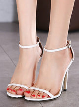 Ladies Pumps Ankle Strap Buckle Stilettos