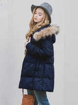Winter Down Jacket Embroidery Fur Jacket Warm