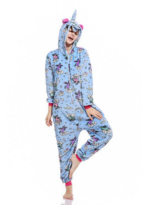 Unicorn Kigurumi Onesie Zipper Design Animal Cartoon