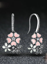 925 Sterling Silver Pink Flower Poetic Daisy Cherry