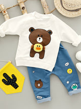 O-Neck full Sleeve with Bear Print Baby