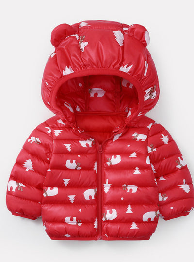 Baby Girls Hooded Down Jackets For Kids Coats