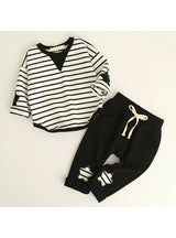Long Sleeve Applique T-shirt+Pants 2Pcs