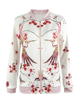 Print White Pink Jacket Casual Loose Sweet Jacket