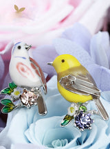 Earrings Lovely Bird Ear Pins Animal Rhinestones